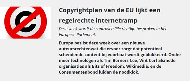 copyrightplan EU regelrechte internetramp computerworld 18juni2018