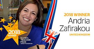 winnares global teacher prize 2018 andria zafirakou