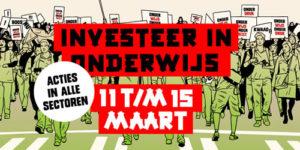 poster actieweek en stakingsdag onderwijs maart 2019