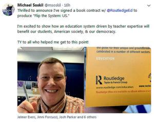 tweet van Michael Soskil over Amerikaanse uitgave Flip the system