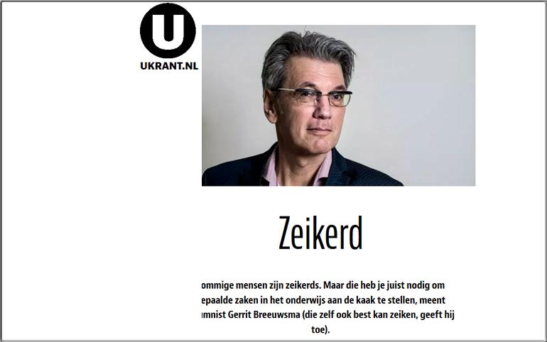 Column in Ukrant van Gerrit Breeuwsma