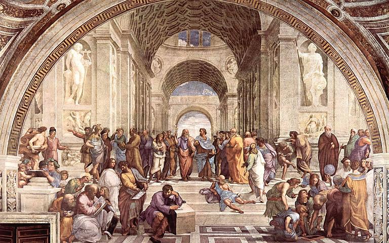 Fresco van Rafaël De school van Athene