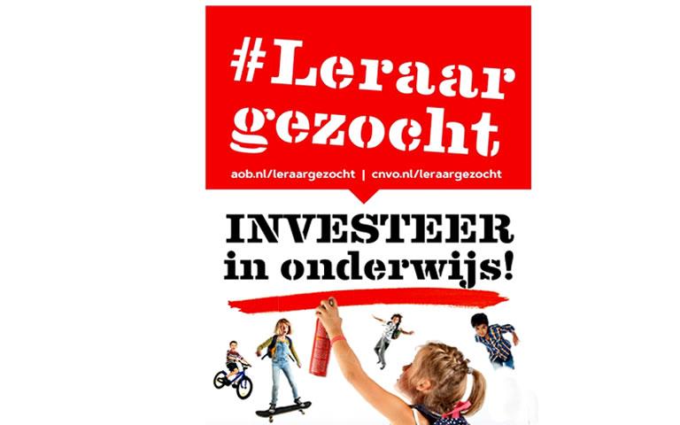 Acties Leraar gezocht en Investeer in onderwijs