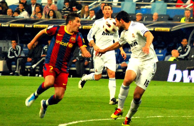Voetbalwedstrijd Real Madrid versus FC Barcelona 16 april 2011