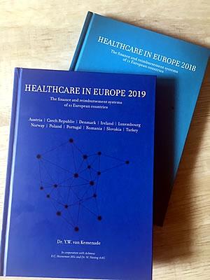 boekomslagen van Healthecare in europe 2018 en 2019