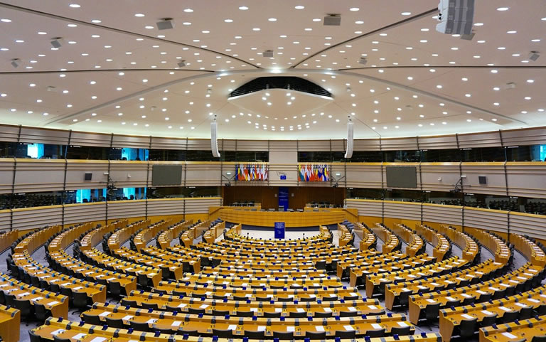 Europees parlement interieur Brussel