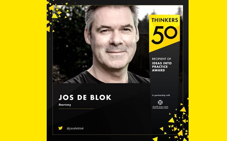 Thinkers50, prijsuitreiking Ideas into practice award, Jos de Blok