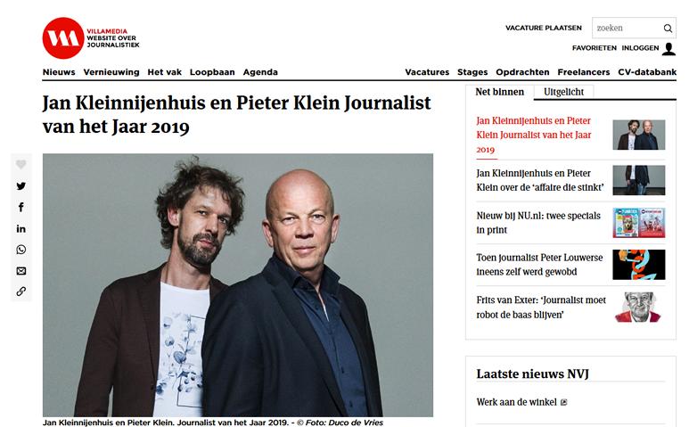 Journalist van het jaar 2019
