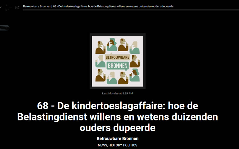 Podcast over kindertoeslagaffaire