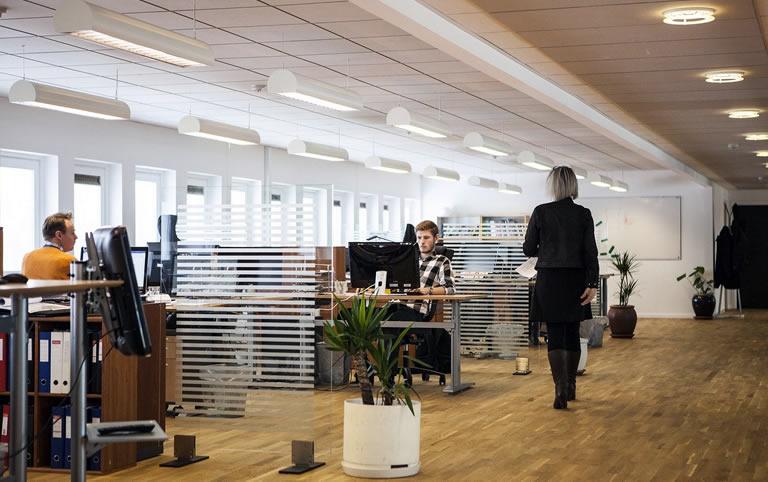 werkplek op kantoor